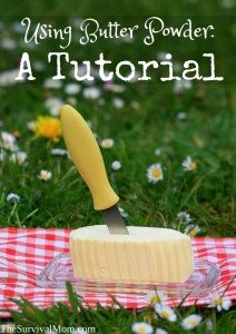 Using Butter Powder: A Tutorial