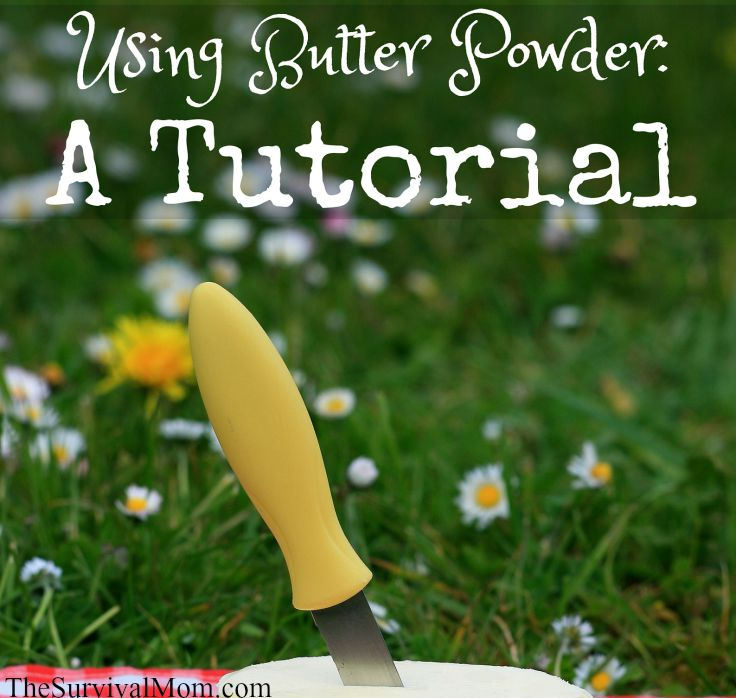 Using Butter Powder