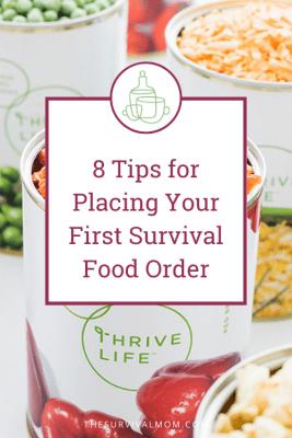 image: freeze dried food, bowl of freeze dried food, thrive life freeze dried food, prepper food