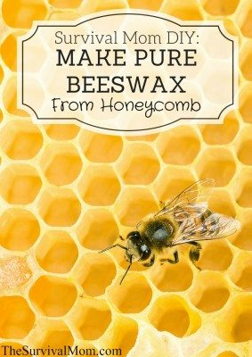 Survial Mom DIY: Make Pure Beeswax from Honeycomb