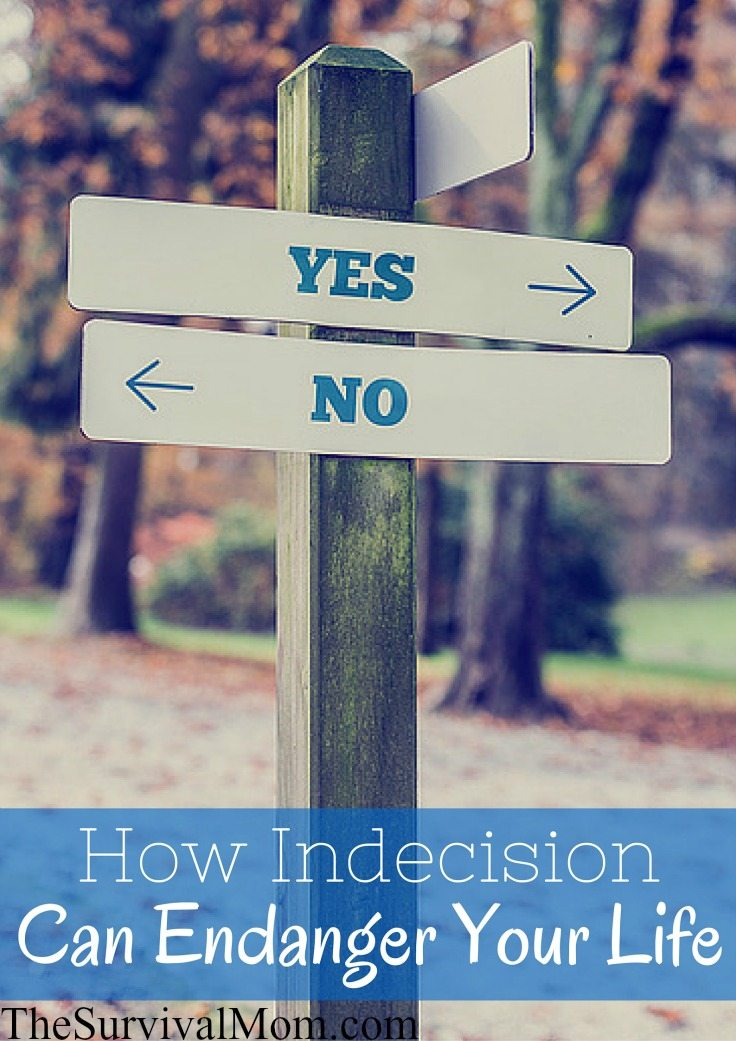 How Indecision Can Endanger Your Life via The Survival Mom
