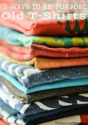 7 Ways to Re-Purpose Old T-Shirts