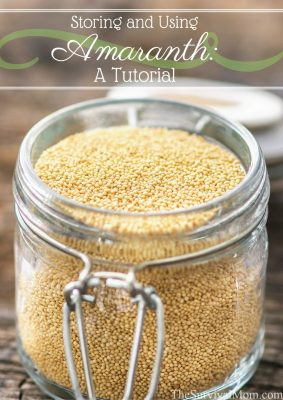 Storing and Using Amaranth: A Tutorial