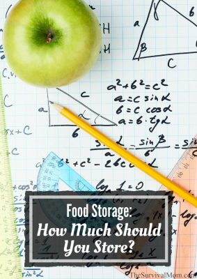 How to Calculate How Much Food to Store