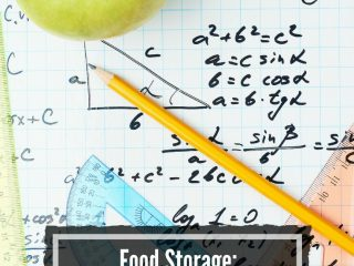 how much food to store