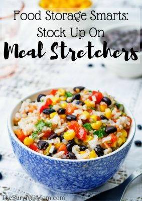 Food Storage Smarts:  Stock Up On Meal Stretchers