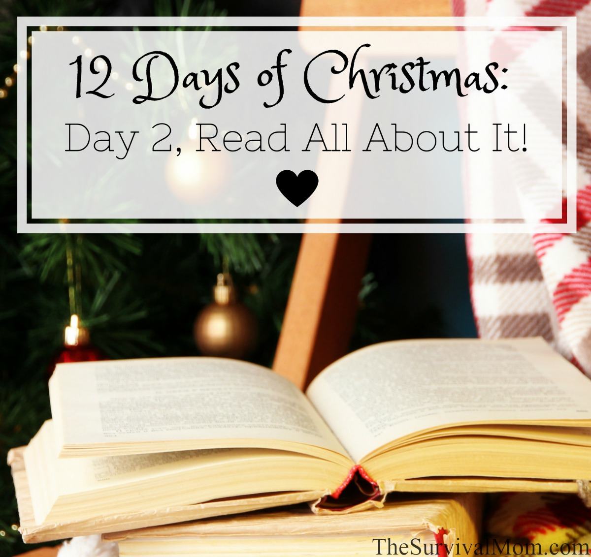 12 Days of Christmas Day 2 Read All About It via The Survival Mom