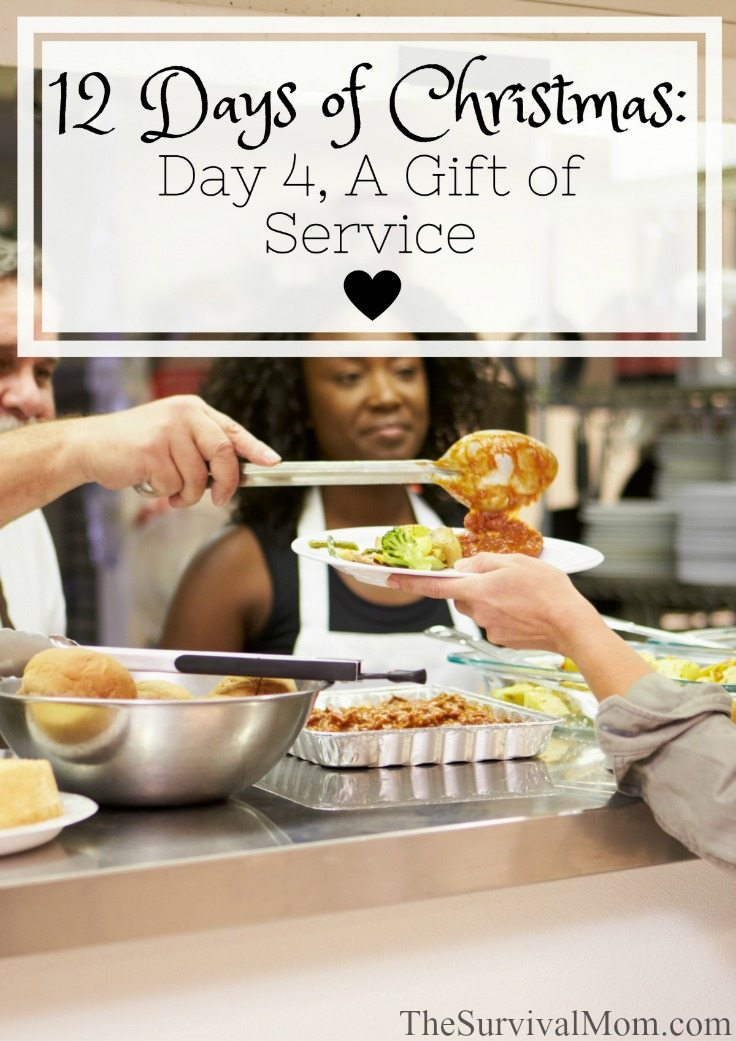 12 Days of Christmas Day 4 A Gift of Service via The Survival Mom