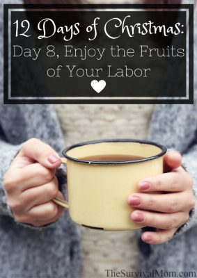 12 Days of Christmas: Day 8, Enjoy the Fruits of Your Labor