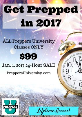 24 Hour Sale on Preppers University Courses
