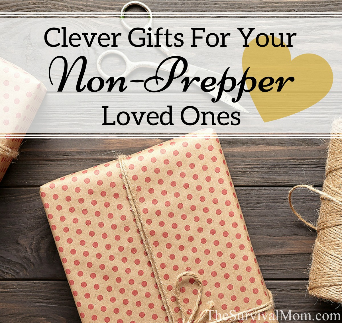 Clever Gifts For Your Non Prepper Loved Ones via The Survival Mom