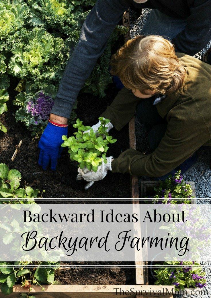 Backward Ideas About Backyard Farming Survival Mom