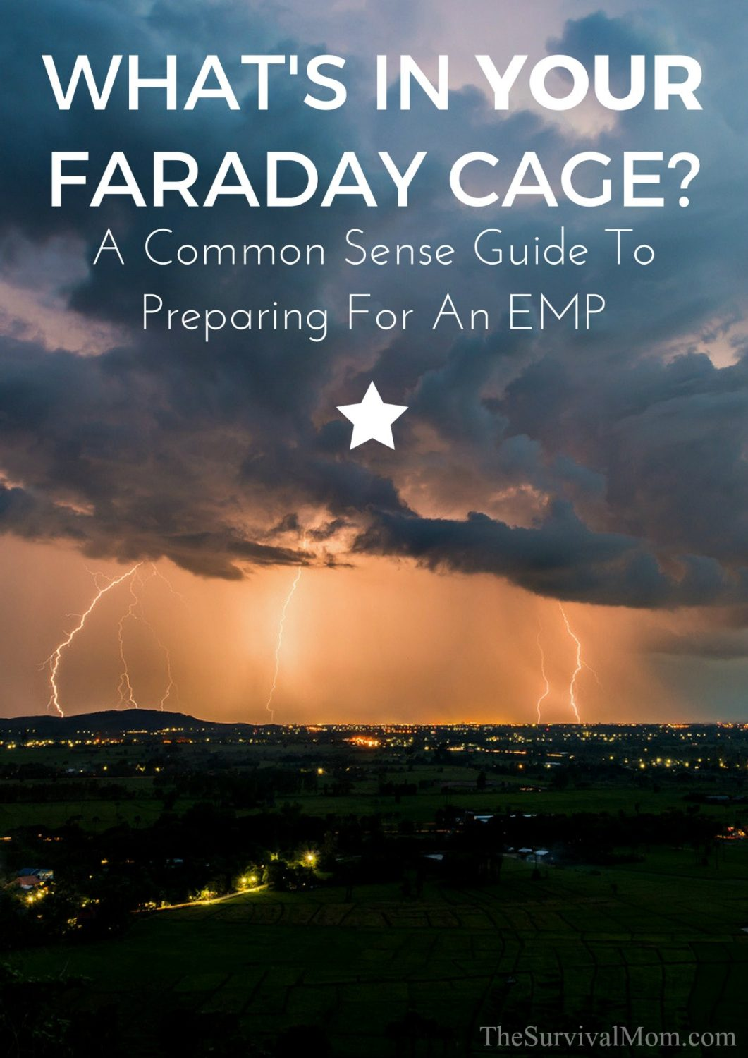 What's In Your Faraday Cage? A Common Sense Guide to Preparing For An EMP via The Survival Mom