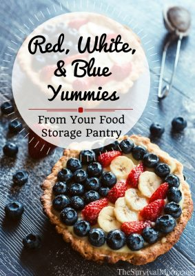 Red, White, & Blue Yummies From Your Food Storage Pantry