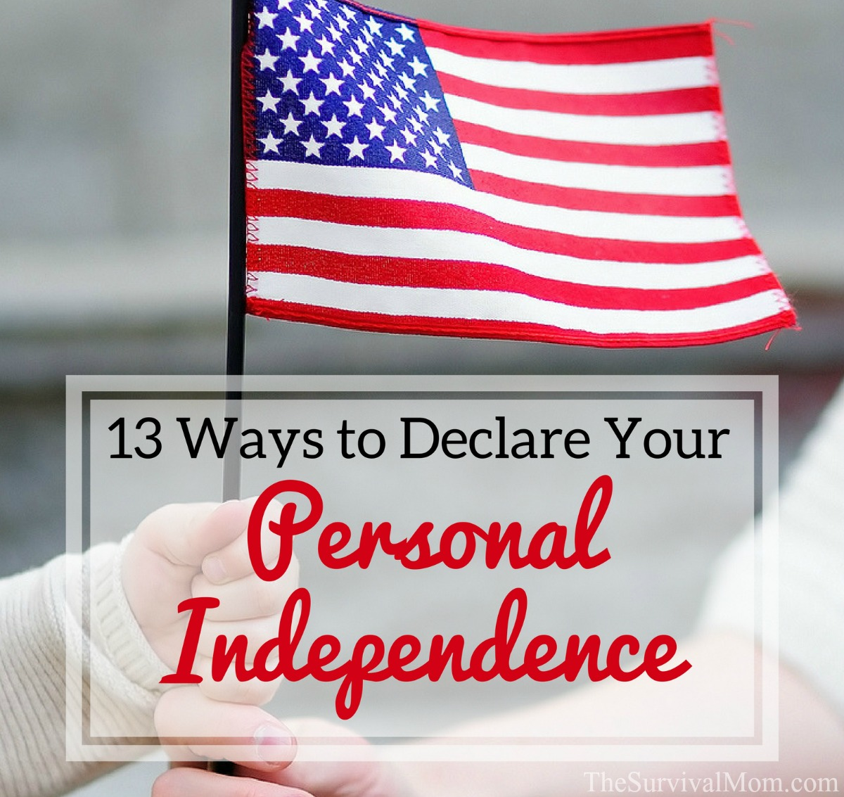 13 Ways to Declare Your Personal Independence via The Survival Mom