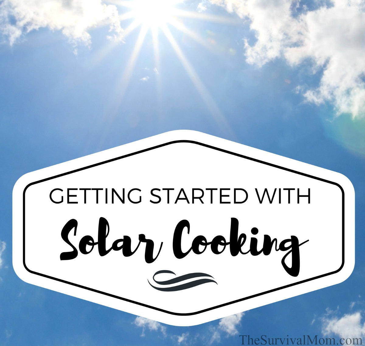 Getting Started With Solar Cooking via The Survival Mom