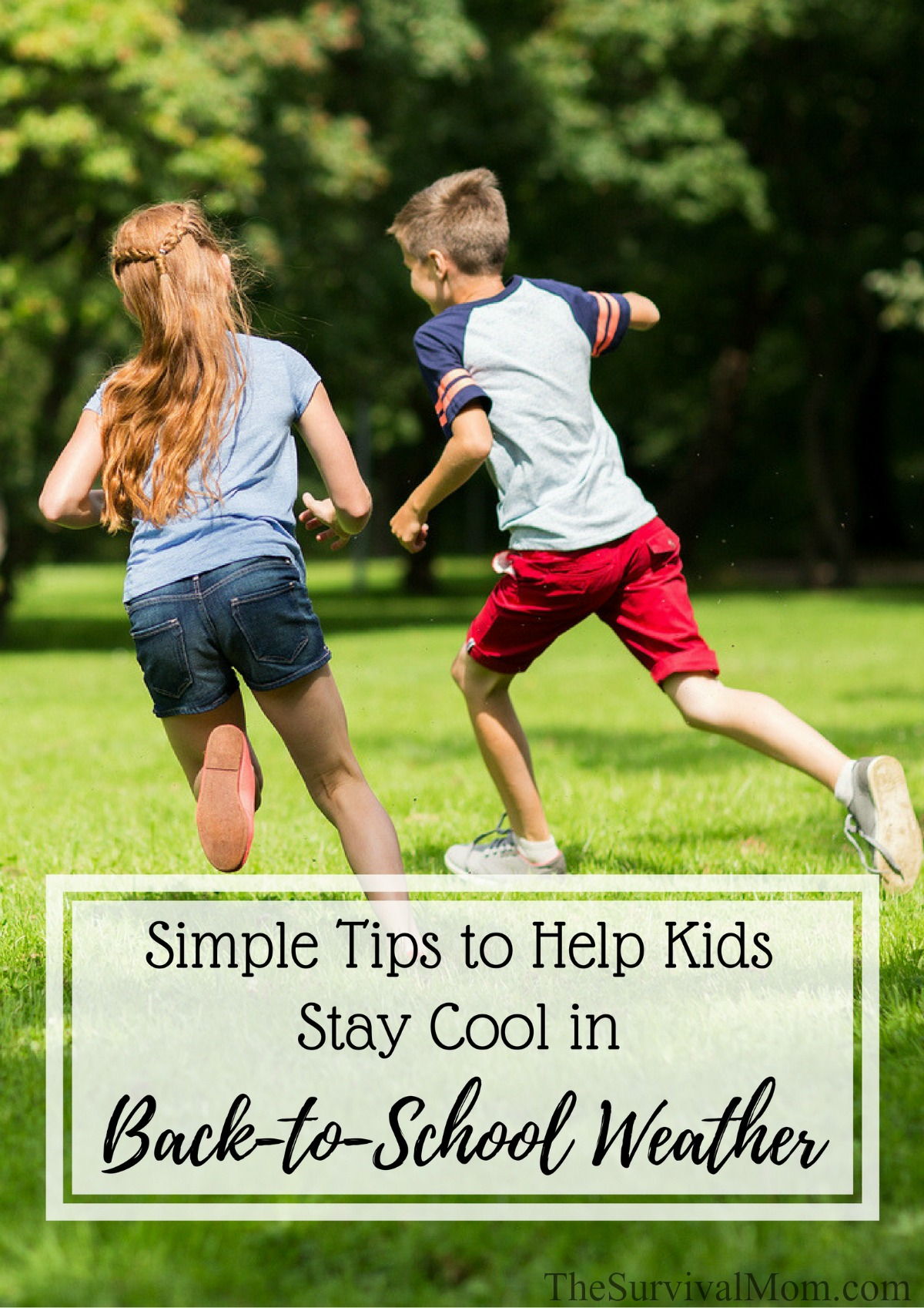 help kids stay cool hot weather
