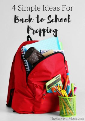4 Simple Ideas For Back to School Prepping