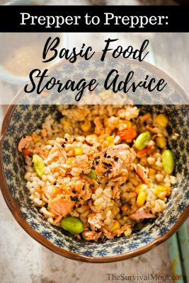 Prepper to Prepper: Basic Food Storage Advice