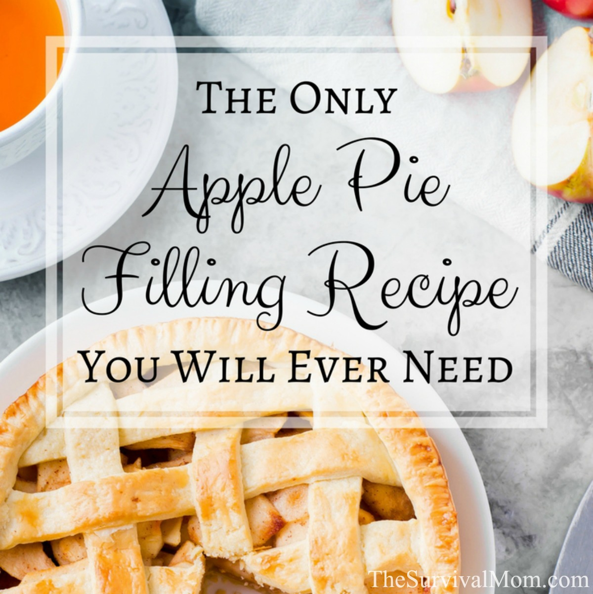 The Only Apple Pie Filling You Will Ever Need via The Survival Mom