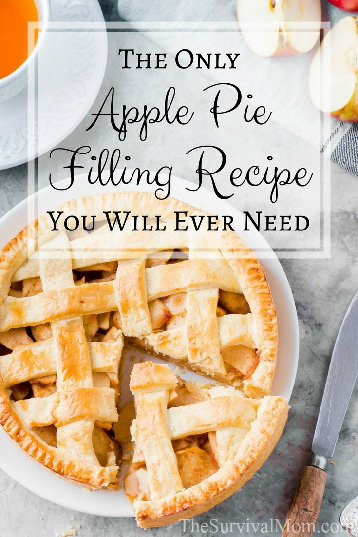 The Only Apple Pie Filling Recipe You Will Ever Need via The Survival Mom