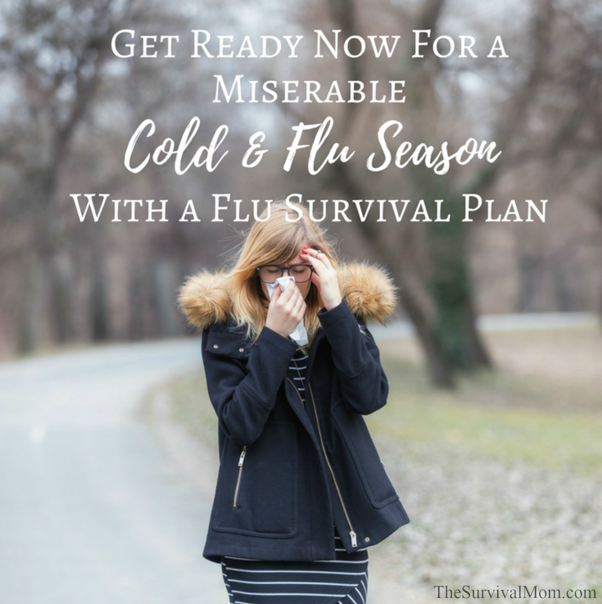Get Ready For a Miserable Cold & Flu Season With a Flu Survival Plan via The Survival Mom