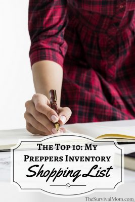 The Top 10: My Preppers Inventory Shopping List