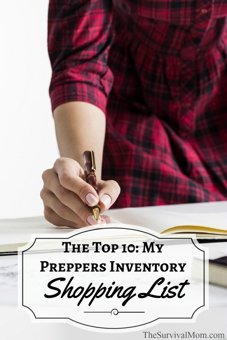 The Top 10 My Preppers Inventory Shopping List via The Survival Mom