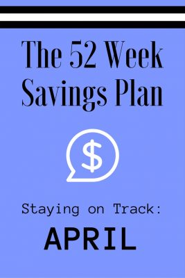52 Weeks Savings Plan: April discounts are here!