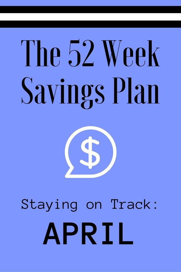 The 52 Week Savings Plan April via The Survival Mom