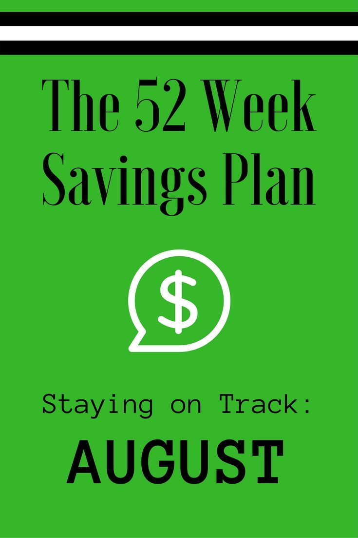 The 52 Week Savings Plan August via The Survival Mom