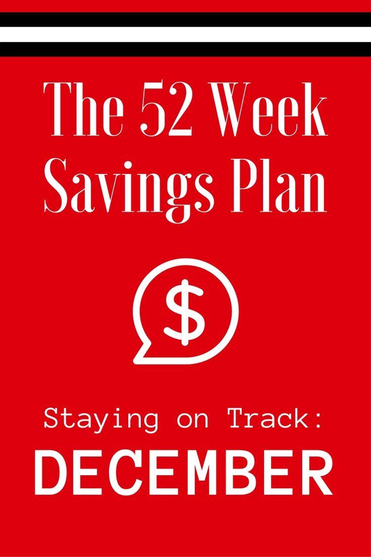 The 52 Week Savings Plan December via The Survival Mom