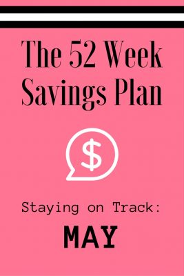 52 Weeks Savings Plan: April showers bring May bargains