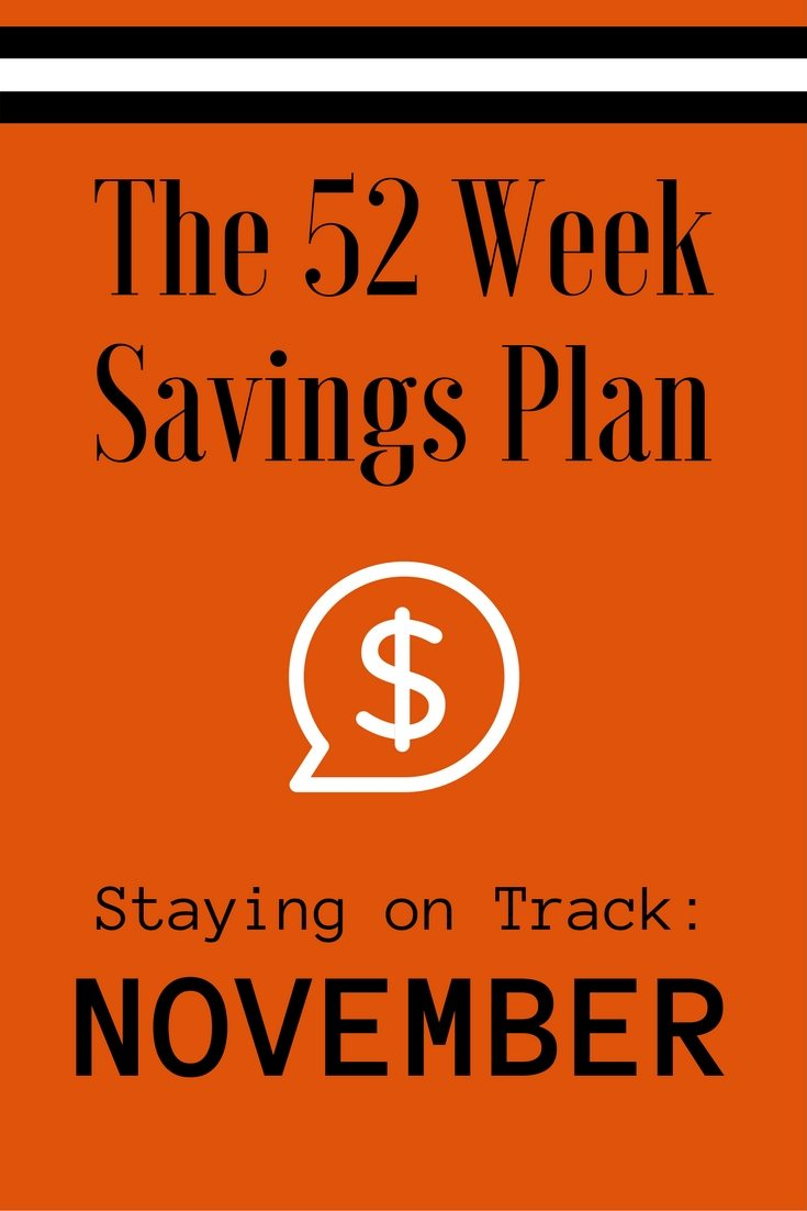 The 52 Week Savings Plan November via The Survival Mom