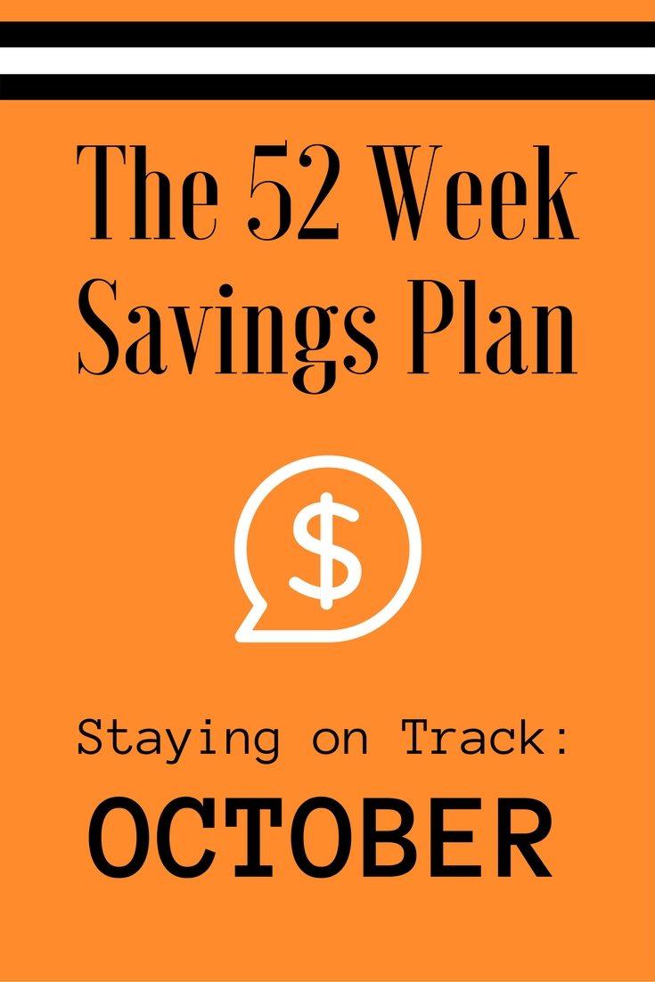 The 52 Week Savings Plan October via The Survival Mom