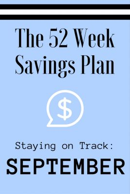 52 Weeks Savings Plan: Fall into September savings