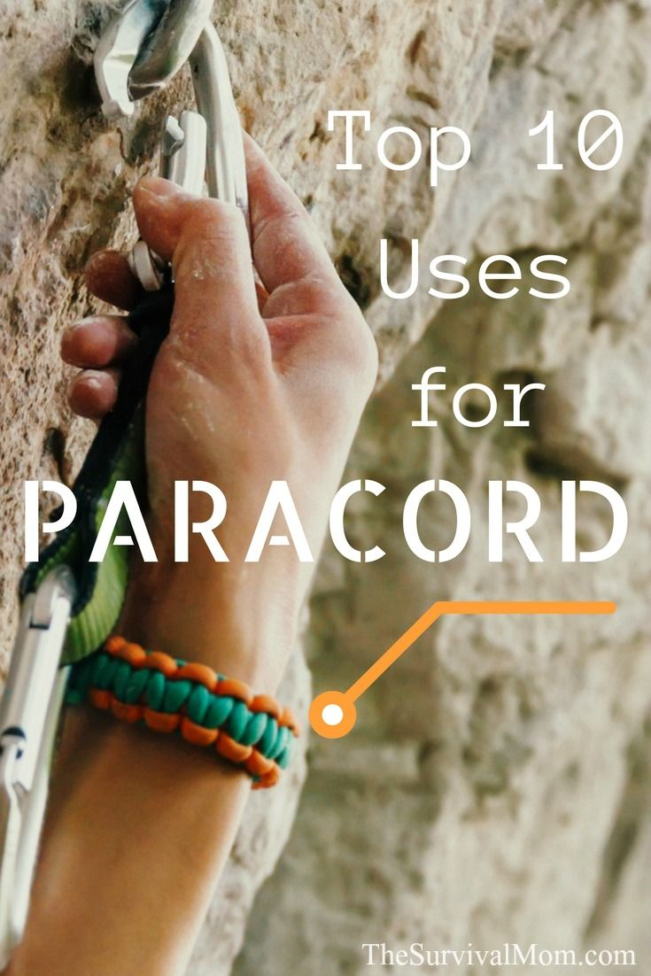 Top 10 Uses for Paracord via The Survival Mom
