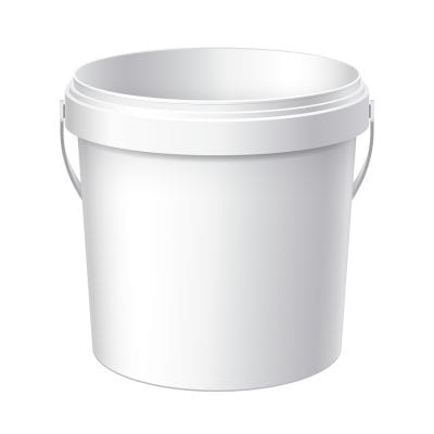 plastic bucket for gardening, gardening gear, must-haves for gardening, frugal gardening