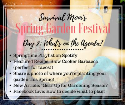 "SPRING GARDEN FESTIVAL: Day 2, ""The first steps to a great garden"""