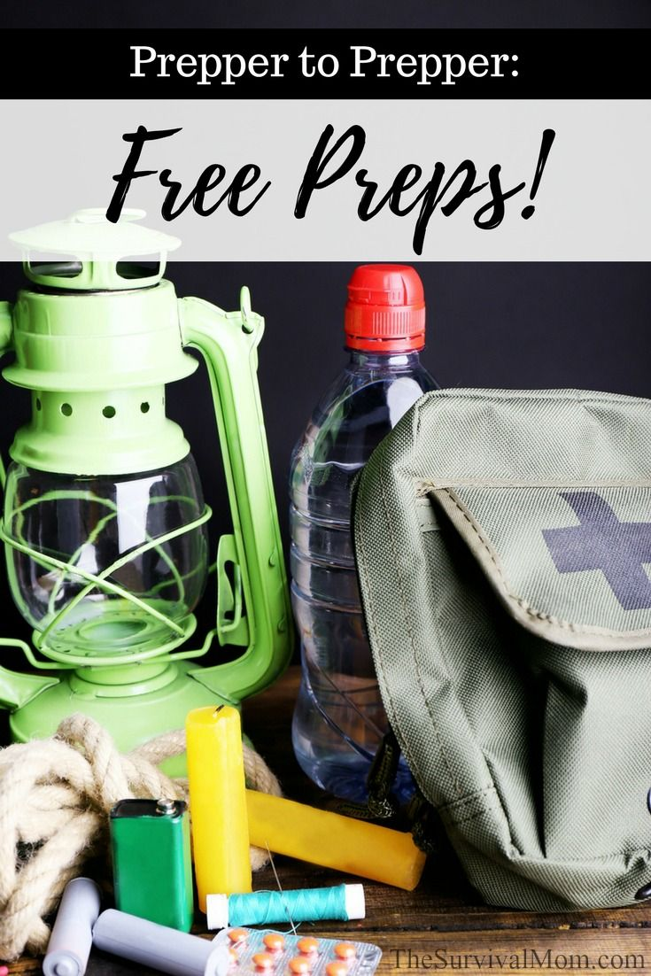 free preps, prepping on a budget, frugal prepping