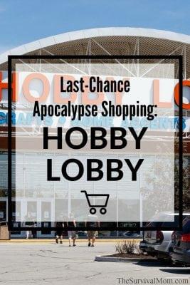 Last-Chance Apocalypse Shopping: Hobby Lobby