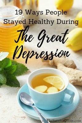 great depression home remedies