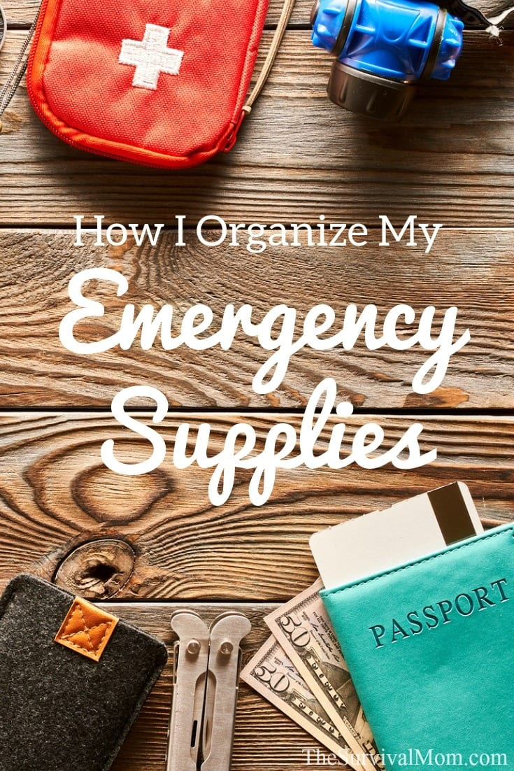 organize emergency supplies, organize preps, how to organize preps