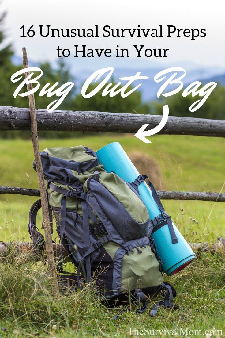 bug out bag, survival bag, survival kit, emergency kit, unusual preps, unusual survival preps