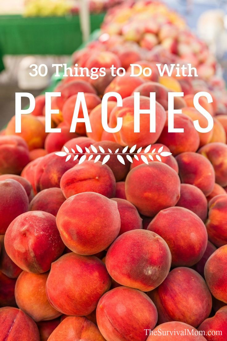 30 Things to Do With Peaches via The Survival Mom