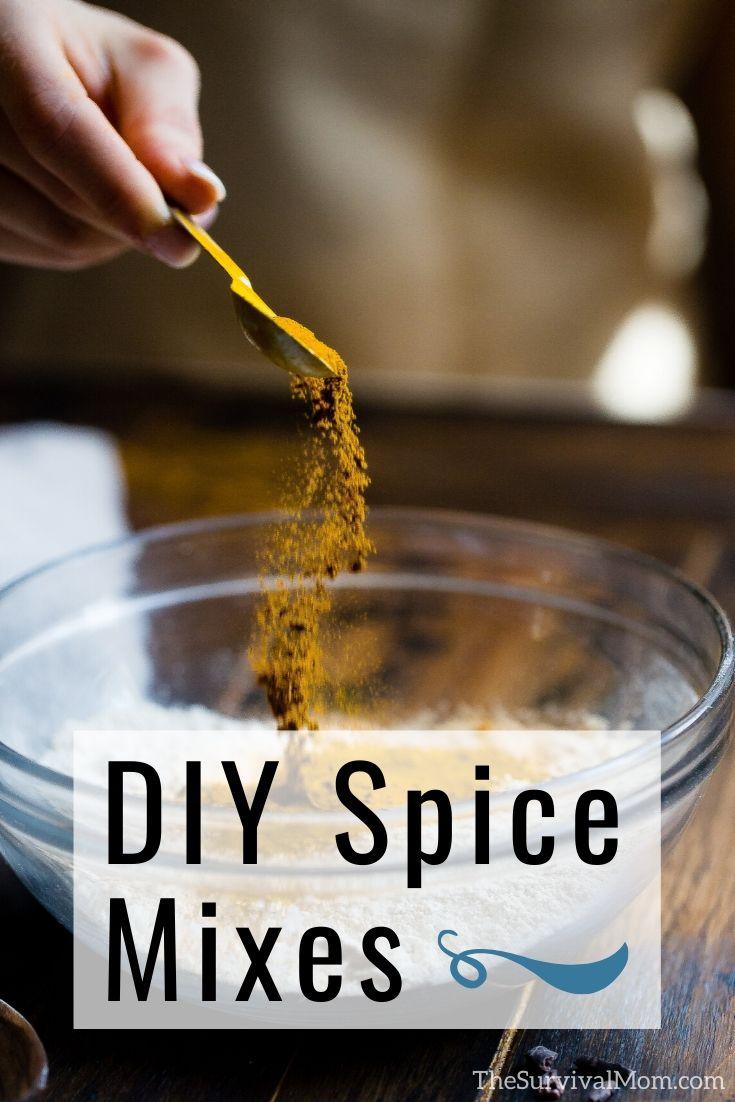 DIY Spice Mixes, homemade spice mixes, spice mix recipes