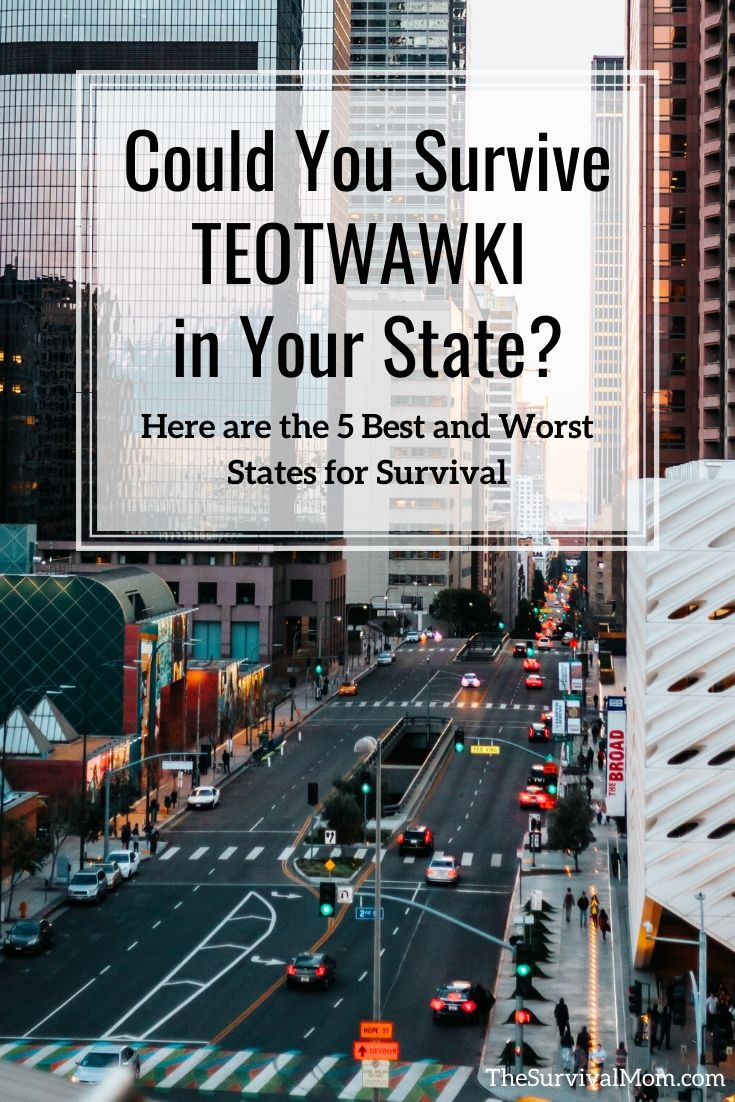 Could You Survive TEOTWAWKI in Your State Here are the 5 Best and Worst States for Survival via The Survival Mom