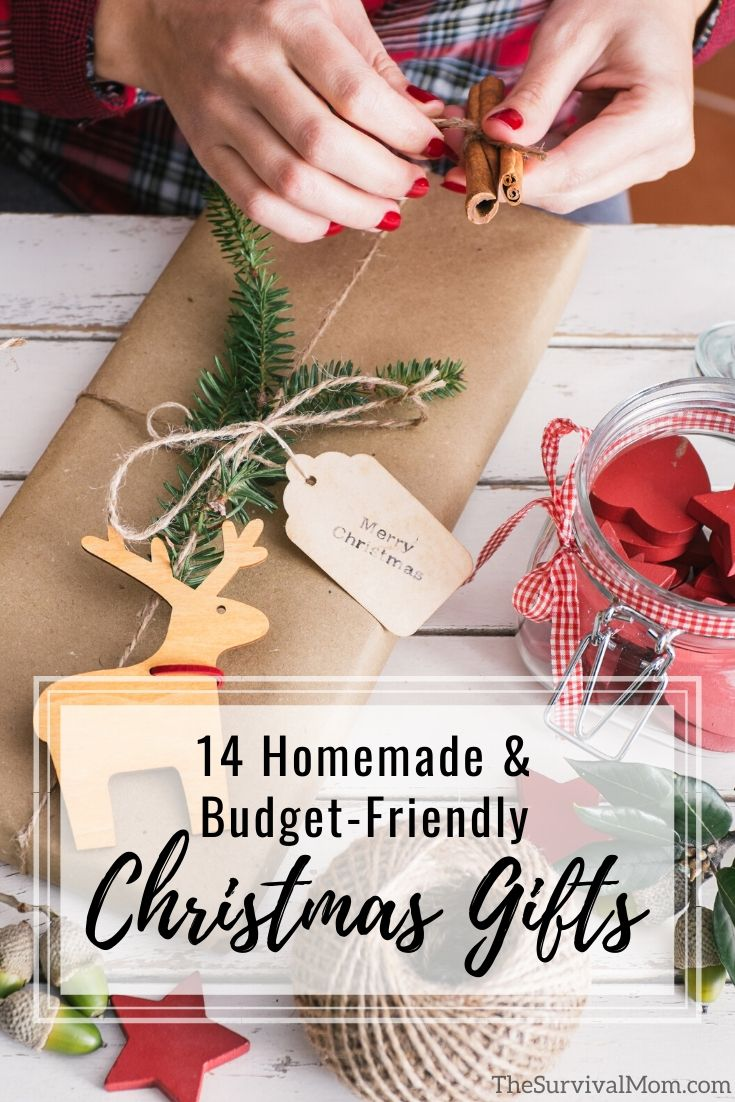 14 Homemade & Budget-Friendly Christmas Gifts via The Survival Mom
