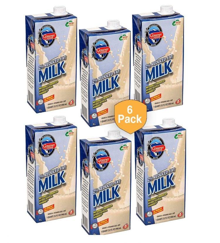 Image: cardboard cartons of 2% milk
