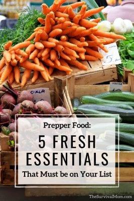 Image: fresh prepper foods carrots, beets, and squash
